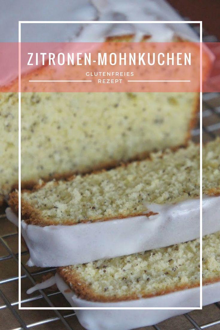 Rezept für glutenfreien Zitronen-Mohnkuchen!