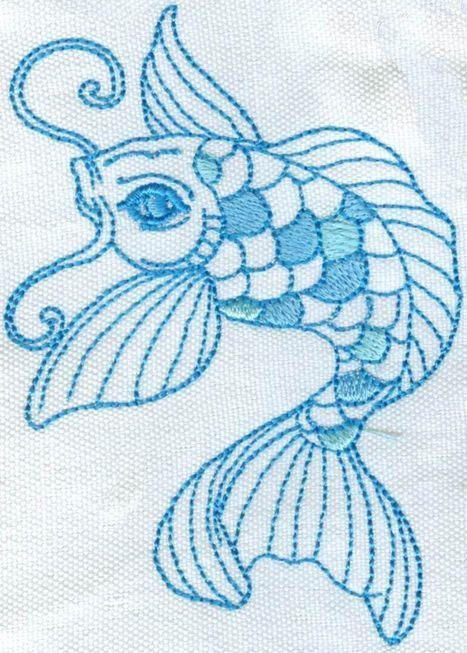 Koi Machine Embroidery set.  10 Designs in this set.