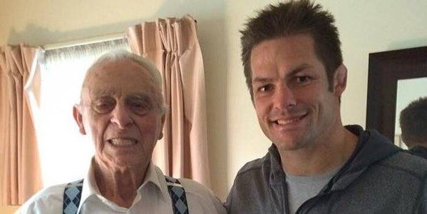 Daughter Ruby has a great great Uncle Wally Argus  The oldest living All Black meeting Richie McCaw.