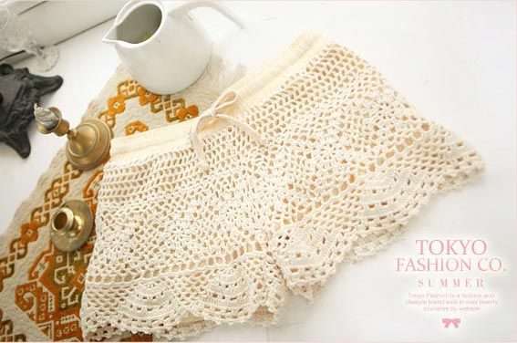 *Free Crochet Pattern:  Lace Shorts by Angie Hearts