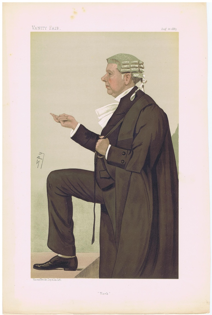 Date: 20-Aug-1887 The Vanity Fair Caricature of Mr. Frank Q.C. M.P. Lockwood With the caption of : York By the artist: SPY Visit www.theakston-thomas.co.uk for many more Vanity Fair Prints, we have one of the largest collections in the world.