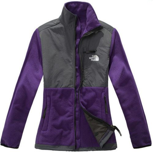 68e6b86fa768 ... Cheap Women North Face Denali Sale Jacket Purple Grey uk httpwww.