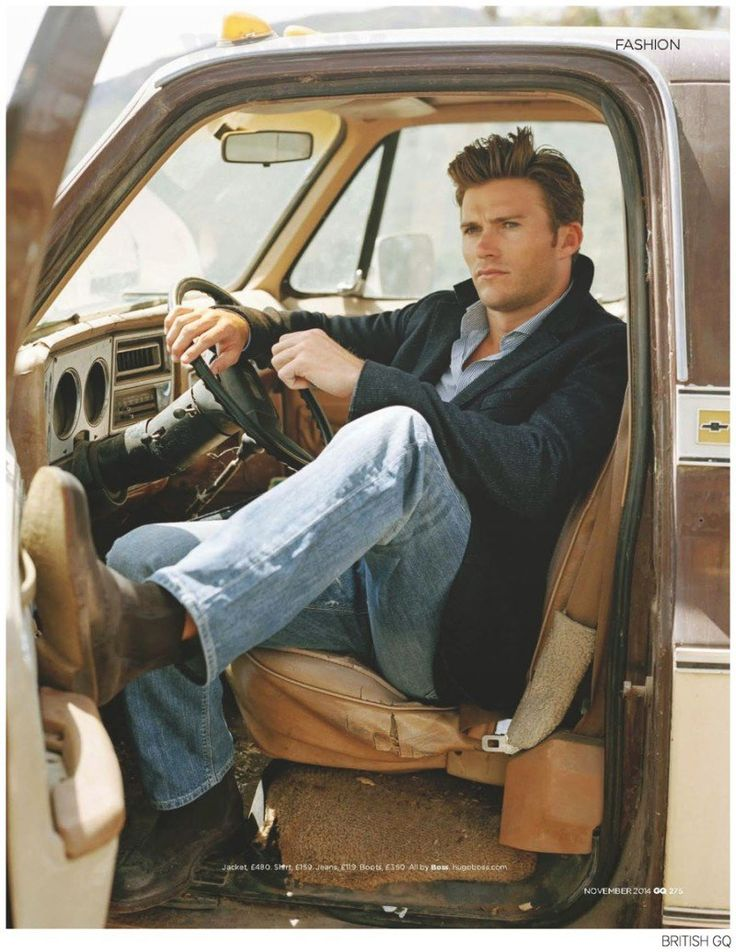 Scott Eastwood Stars in BOSS Photo Shoot for British GQ November 2014 Issue image