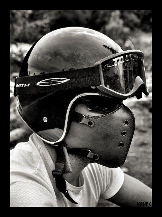Masker motorfiets Classic Bruin/motorfiets masker / door BOKENMASK