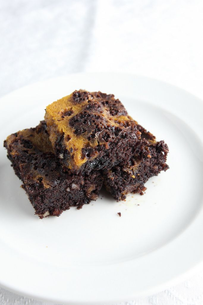 Having a couple of pumpkin brownies while sipping some oolong tea. It taste good together.