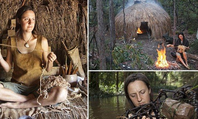 'I killed and skinned a wallaby and used its fur to carry fire sticks': Incredible story of how one woman abandoned city life to live wild in the Australian bush for 12 months