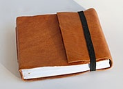 Beautiful hand-bound leather Haitian journals from the artisans at 2nd Story Goods.