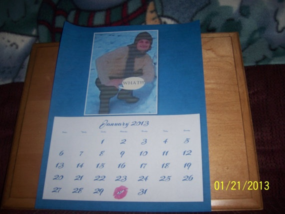 CALENDER PERSONALIZED CALENDERS 2013 Made to by NAESBARGINBASEMENT, $12.00