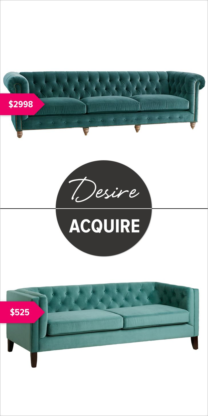 Desire sofa ($2,998) Acquire sofa ($525)