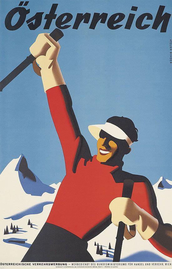 Vintage ski poster - Osterreich