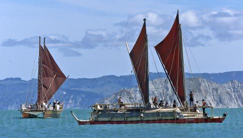 Waka Hourua - Replica of Ocean voyaging double-hulled canoes, used by my ancestors to explore and colonise the Pacific Rim.