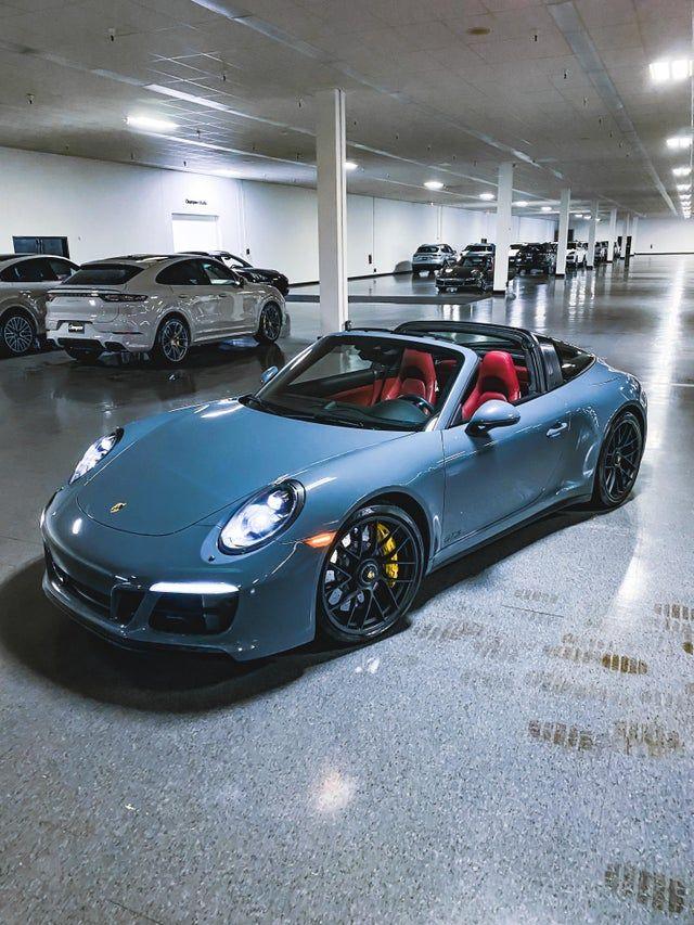 Graphite Blue Targa 4 Gts With Red Interior Porsche Porsche 911 Targa Porsche Red Interiors