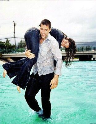 Matthew Fox & Evangeline Lilly spin photoshoot
