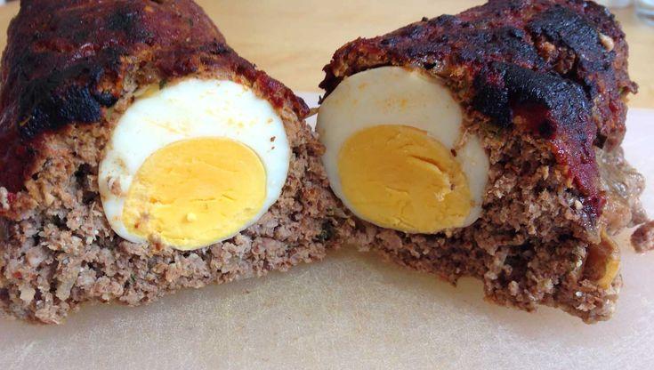 Hackbraten mit Ei Rezept ohne Brötchen! ✓Glutenfrei und ✓Laktosefrei. Der Hackbraten schmeckt wie bei Oma und kommt ausschließlich mit gesunden Zutaten aus.