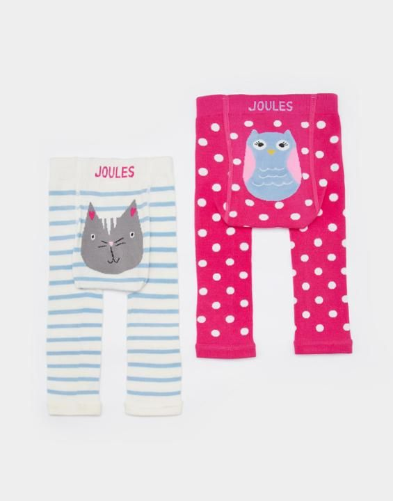 Joules Lively Baby Girls Leggings Two Pack