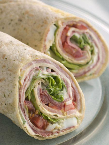 Πίτες τορτίγιας (wraps) - σάντουιτς