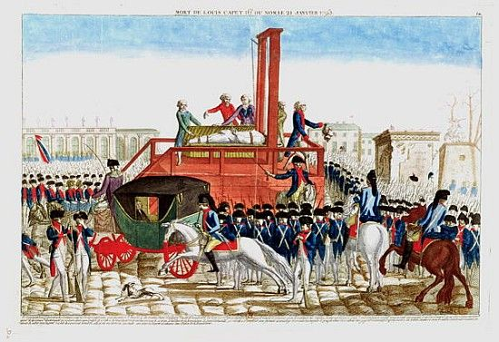 Execution of Louis XVI (1754-93) 21st January 1793, 1793, French school