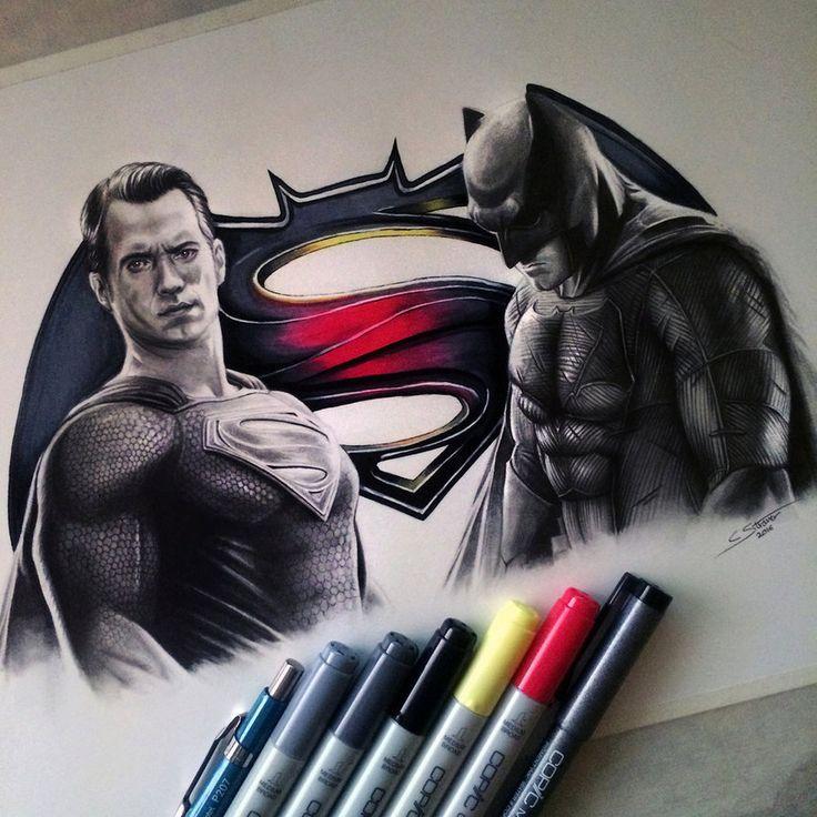 Batman V Superman Drawing by LethalChris.deviantart.com on @DeviantArt