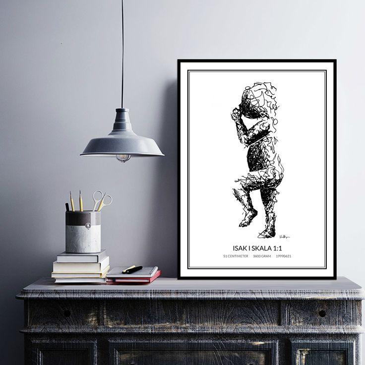 Poster 2, black/white