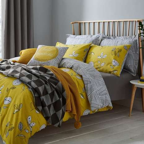 Elements Sunflower Yellow Bed Linen Collection | Dunelm