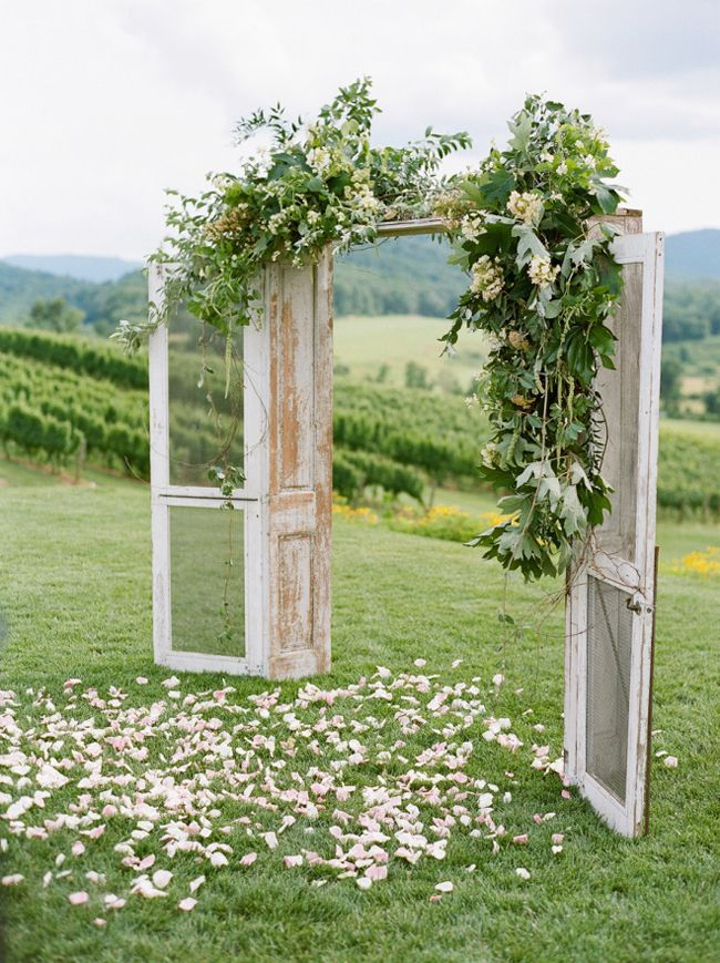 20 Ceremony Door Arches & Altars   SouthBound Bride