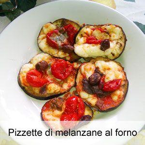 Pizzette di melanzane cotte al forno.