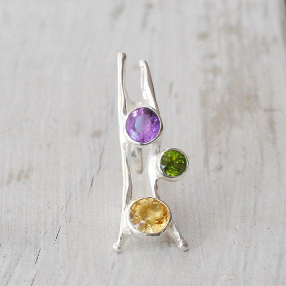 Large Sterling Silver Eccentric Ring Unique Big by SunSanJewelry