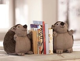 Hedgehog Bookends - contemporary - kids decor - Pottery Barn Kids