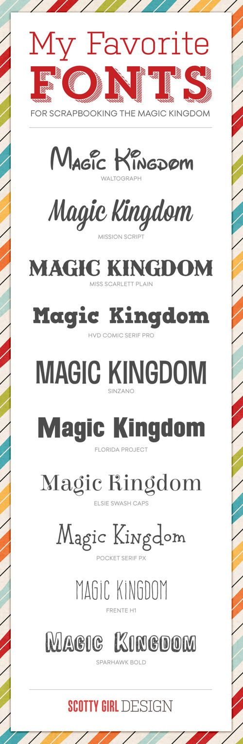 Type Tuesday: Magic Kingdom Fonts