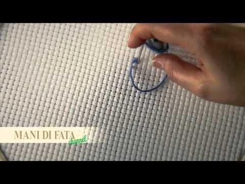 ▶ MANI DI FATA - PUNTO CROCE - CROSS STITCH - PUNTO DE CRUZ - YouTube