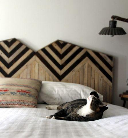 headboard: Handmade Headboards, Wooden Headboards, Cat, Chevron Headboards, Beds Head, Head Boards, Woods Headboards, Ariel Alaska, Cool Headboards
