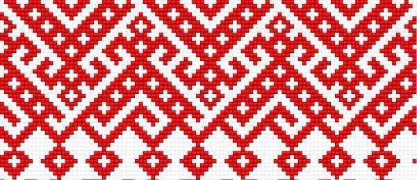 haft ludowy | Motyw 122 (haft ukraiński, ludowy, ornament, ukrainian embroidery)