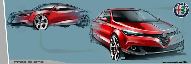 Alfa Romeo sedan sketch