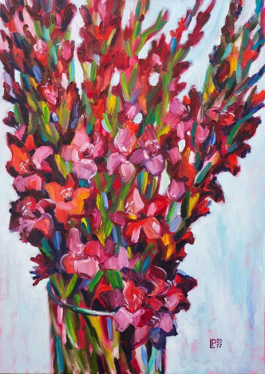 Buy Gladioli, Oil painting by Liudmila Pisliakova on Artfinder. Discover thousands of other original paintings, prints, sculptures and photography from independent artists.