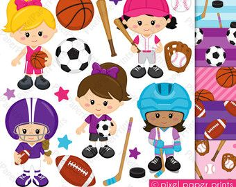 Sports  Boys  Digital Stamps por pixelpaperprints en Etsy