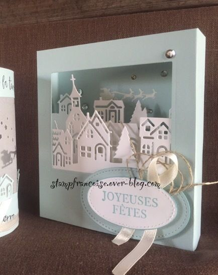 Stampin'Up Project Free Workshop Bonjour de ma ville / Hometown greetings edgelits dies