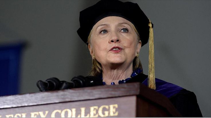 Hillary Clinton takes on Trump and Republicans during commencement address