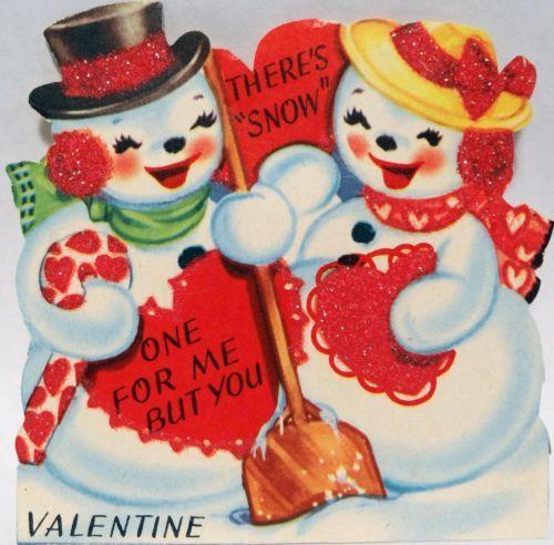 57 best Vintage valentine Cards  Winter images on Pinterest