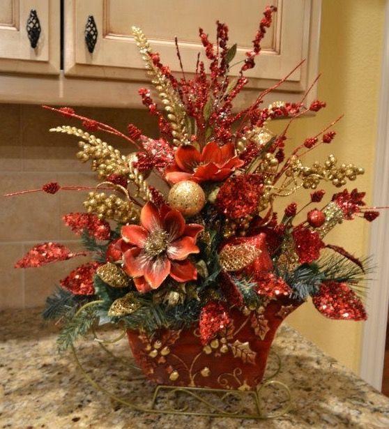 Mejores 151 im genes de navidad 3 en pinterest navidad - Centros florales navidenos ...