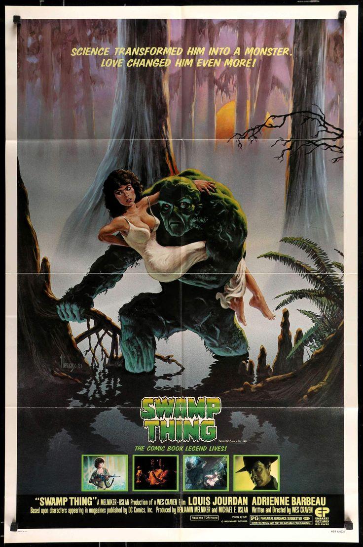"Swamp Thing (1982) Original One Sheet Movie Poster - 27"" x 41"" - Original Film Art - Vintage Movie Posters"