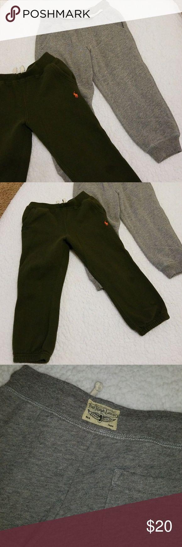 2 Polo sweatpants Nice warm RL bottoms. Army green & grey. Drawstring adjustable. Polo by Ralph Lauren Bottoms Sweatpants & Joggers