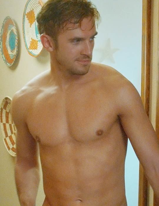 "Dan Stevens shirtless as seen in ""The Guest"" in 2014..."