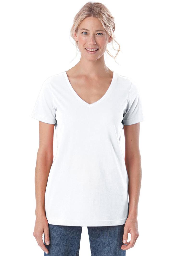 Crew Neck, T-Shirt Femme, Blanc (White 10), 42New Look
