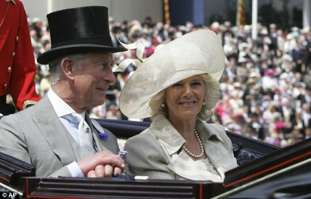 Prince Charles with wife Camilla, Duchess of Cornwall arrive at Ascot