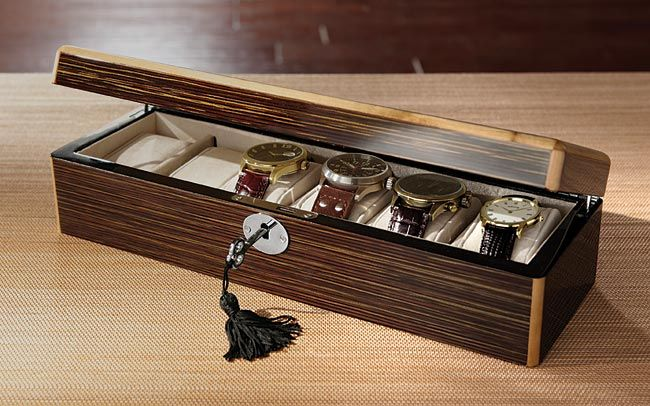 Wrist Watch Display Case - Six-Place Watch Box -- Orvis on Orvis.com!