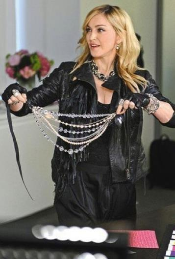 Madonna in the Material Girl office! #MaterialGirl