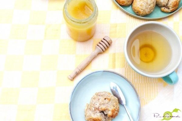 Gezonde scones met banaan & kokos
