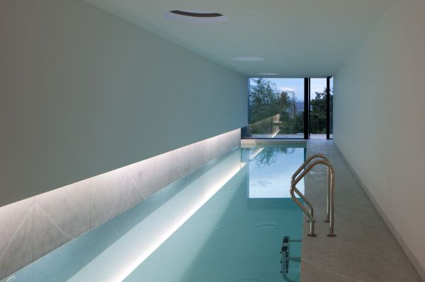 indoor pool at L23 House, designed by Pitágoras Arquitectos