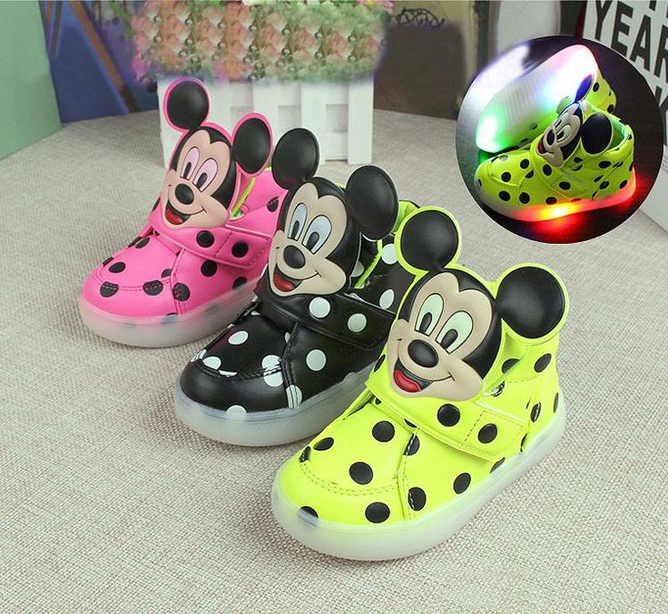 new cute cartoon flash baby kid sneaker mickey style mouse dot waterproof shoes for 1-6yrs children boy-girls outdoor shoes hot #>=#>=#>=#>=#> Click on the pin to check out discount price, color, size, shipping, etc. Save and like it!