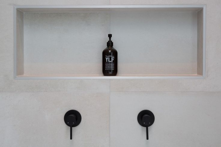 Round Black Wall Mixer by Meir. Visit www.meir.com.au/ #MeirAustralia #tapwear #matte #black #matteblack #bathroom